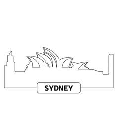 Cityscape of sydney vector