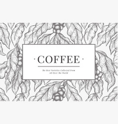 coffee design template vintage coffee background vector image