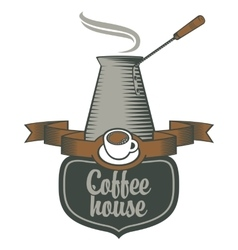 Coffee houses and coffee pots vector