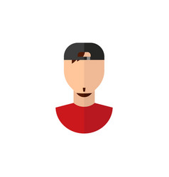 Color icon guy face in flat style vector