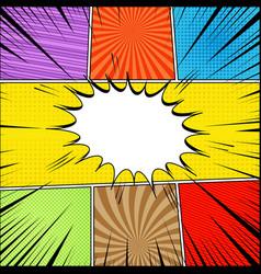 comic book page bright concept vector image