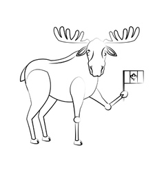 Deer cartoon icon vector