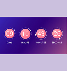 digital countdown timer concept vector image