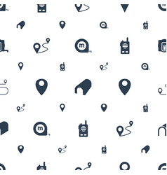 distance icons pattern seamless white background vector image