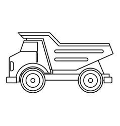 Dump truck icon outline vector
