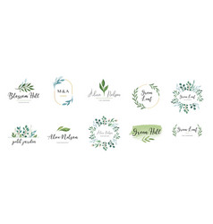 Elegant logos wedding monograms hand drawn vector