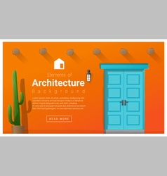Elements of architecture front door background 9 vector image