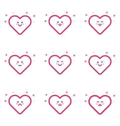 emoticons pink icon set in vector image