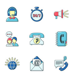 Encouragement icons set cartoon style vector