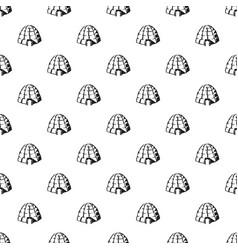eskimo igloo pattern seamless vector image