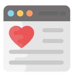 Favorite website flat icon vector