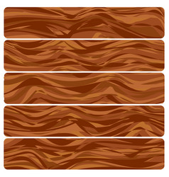 five wooden boards vector image