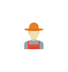 Flat icon farmer element of vector