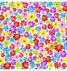 Floral pastel pattern vector