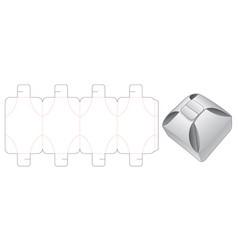 Folding packaging box die cut template vector