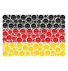 germany flag pattern of glad smile icons vector image