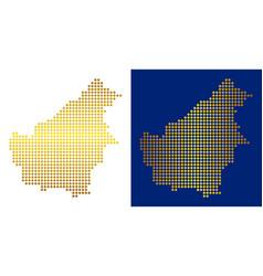 Gold dot borneo island map vector