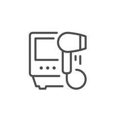 Hair removal appliance line icon vector