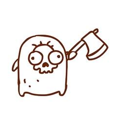 Hand Drawn Grim Reaper vector