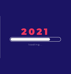 happy new year 2021 loading design new vector image