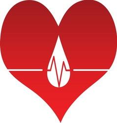 Heart line 01 resize vector image