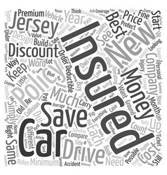 How To Save Money And Get Discount Car Insurance vector