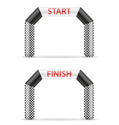 inflatable line start finish for sport vector image