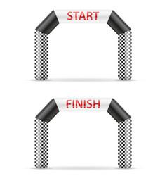Inflatable line start finish for sport vector