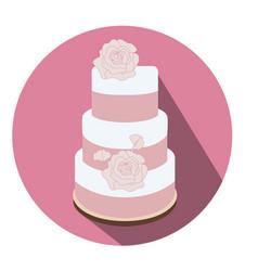 Isolated wedding cake vector