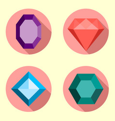 jewel flat vector image