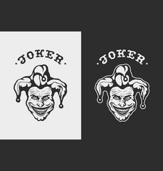 Laughing head joker vector