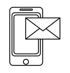 Line smartphone technology with electronic e-mail vector