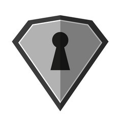 Locked diamond lock vector