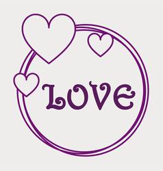 love circle vector image