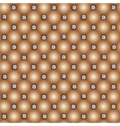 Luxury background with diamond buttons vector image
