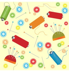 materials for sewing seamless background vector image