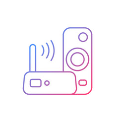 media streaming device gradient linear icon vector image