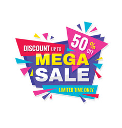 mega sale - concept promotion banner abstract bac vector image