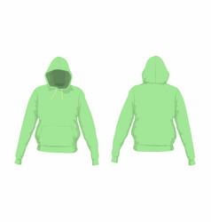 Mens green hoodie vector