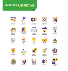 Modern material flat design icons - business vector