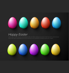 modern minimalist colorful happy easter card vector image