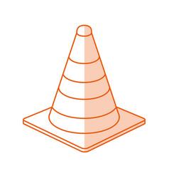 Monocromatic traffic cone design vector