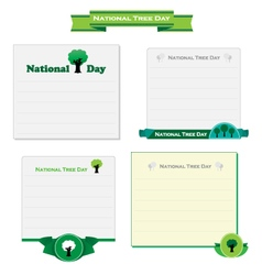 National Tree Day card vector image vector image
