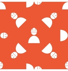Orange builder pattern vector