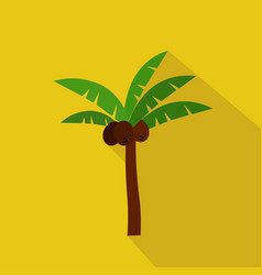 palm cartoon flat icon brazil summer vector image