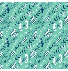 pattern with Sea Horses vector image