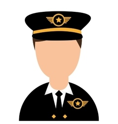 pilot plane avatar character vector image