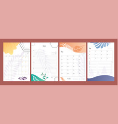 planners set to do lists weekly and daily vector image