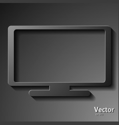 Plasma tv set vector