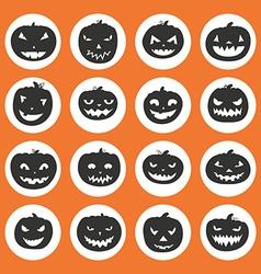 Pumpkin Icons vector image